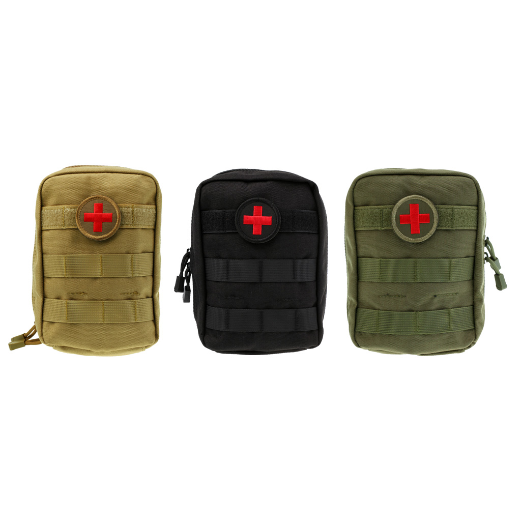 Tactical EMT Pouch Medic EMS Paramedic Molle First Aid Pouch Brown for Outdoor Camping Emergency Travel Hunting Utility Pouch