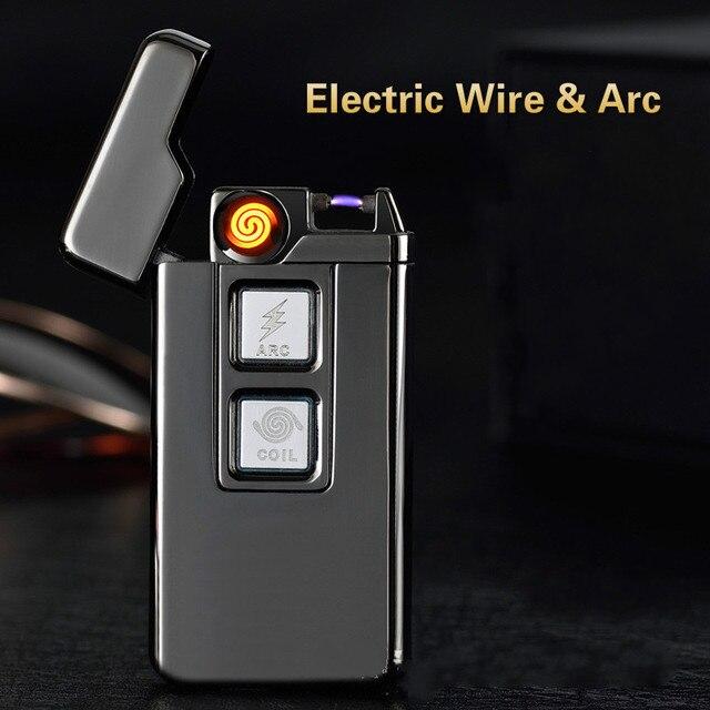 a473b8a295e Bobina de Tesla   Arc USB Mais Leve Personalidade À Prova de Vento de Carga  Usb
