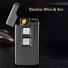 Usb carga bobina Tesla y encendedor de arco USB personalidad a prueba de viento encendedores de cigarrillos electrónicos novedad encendedor de cigarrillos eléctrico