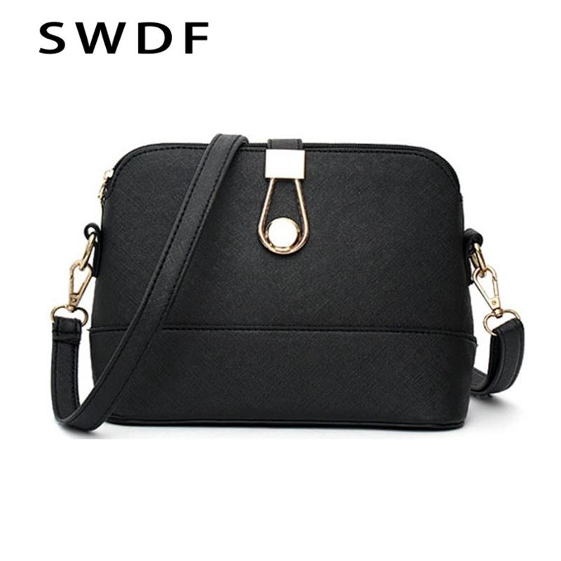 SWDF Shell Small Handbags 2018 Fashion Ladies Leather handbag Casual Purse Designer Crossbody Shoulder bag Women Messenger bags