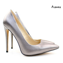Aiyoway Elegant Women Ladies Pointed Toe High Heel Pumps Wedding Party Dress Shoes Slip On US Size 5-15