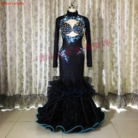 Luxury Belly Dance Suit Bra&Dress2 Piece Set Handmade Diamond Women/Girls Bellydance Ballroom Dance Stage Performance Costume