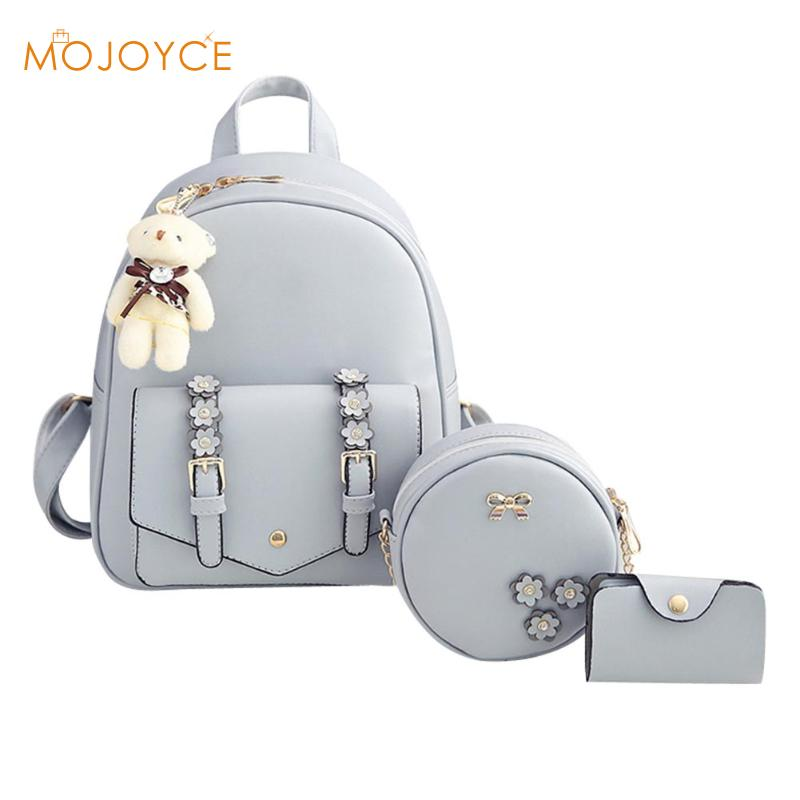 3pcs Autumn Winter Women Backpacks Set Rucksack Fashion Backpack For Teenagers Girls School bags Backpacks mochila feminin 2017