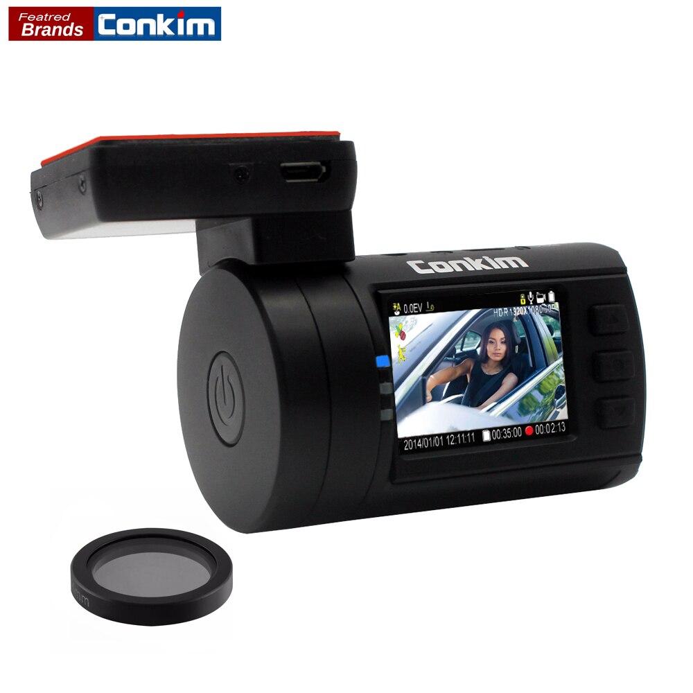 Conkim DVR Car Camera Dash Cam mini 0806S Ambarella A7 1296P 1080P GPS Video Recorder Hidden Registrator Camera Capacitor w/CPL blueskysea ambarella a12 hd 1440p 1296p car dash camera gps video recording car dvr ldws view angle 170 degree