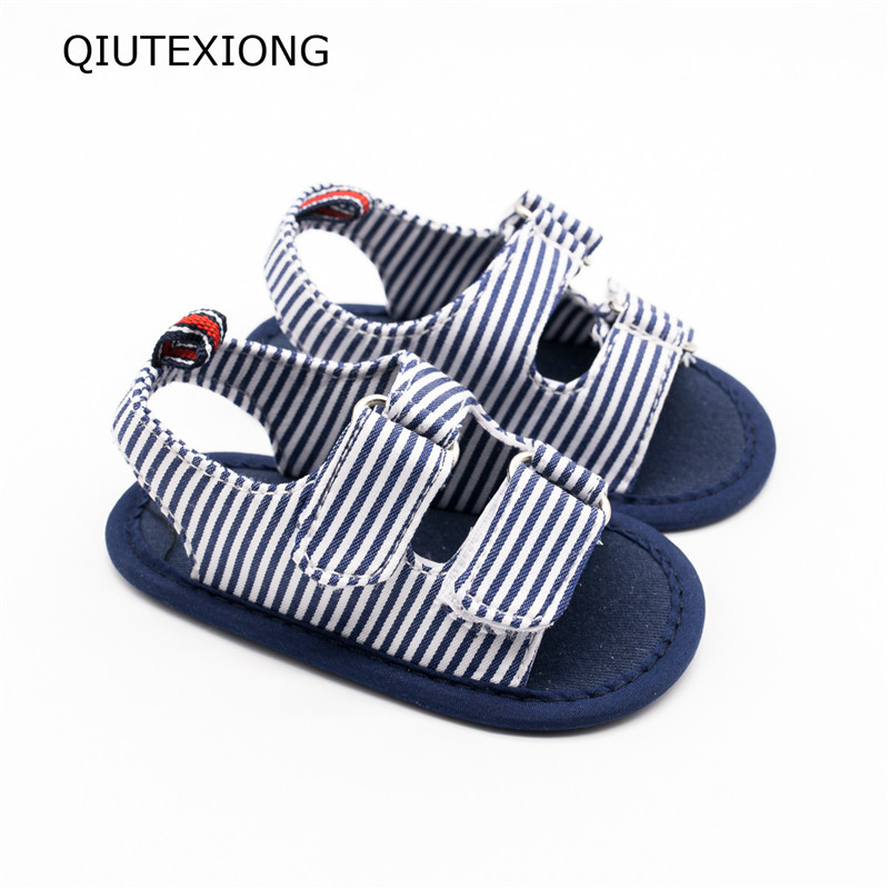 Stripe Leisure time Baby shoes Toddlers Pure Sandle Walker Shoes Summer Shoes for baby Toddler Moccasins 0-18M
