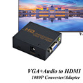 Female VGA to Female HDMI Converter VGA HDMI Adapter With 3.5mm audio input V1.4 HD 1080P  For XBOX PS3 PS4 HDTV