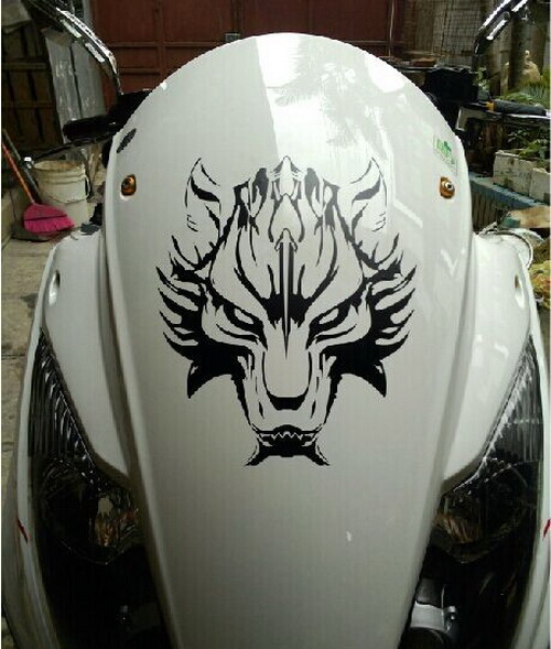 Car wolf head hood decals motorcycle decal vinyl graphics stickers cg229 in car stickers from automobiles motorcycles on aliexpress com alibaba group