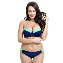 Large Size Bikini Set for Women Swimwear 2017 Sexy Swimsuit Fat Wear Plus Size Bikini Bathing Suit Large Cup Bikini Women