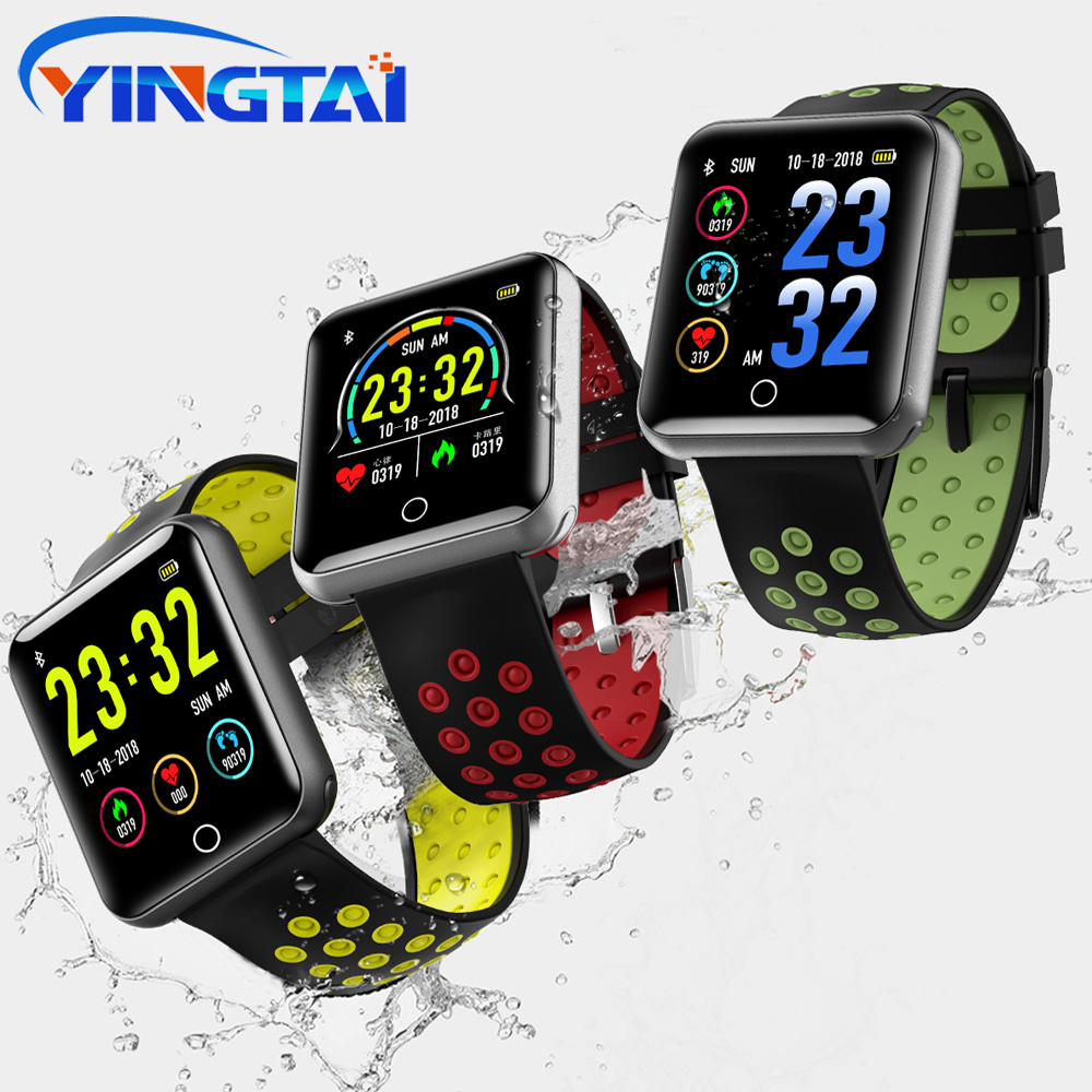 YINGTAI Q18 Smart Watch Men Big Touch Screen Fitness Tracker IP68 Waterproof Blood Pressure Heart Rate Smartwatch PK Sport3 SN12 sport3 smart watch men blood pressure ip68 waterproof fitness tracker clock smartwatch for ios android wearable devices