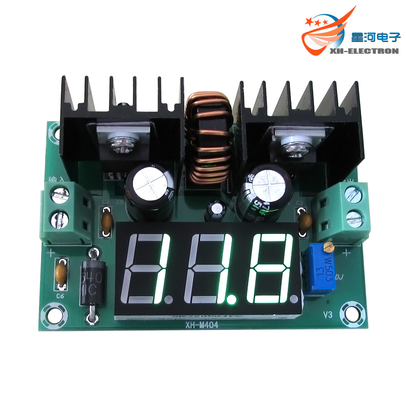 XH-M404 DC voltage regulator module digital DC voltage regulator DC XL4016E1 digital display voltage regulator 8A цена и фото