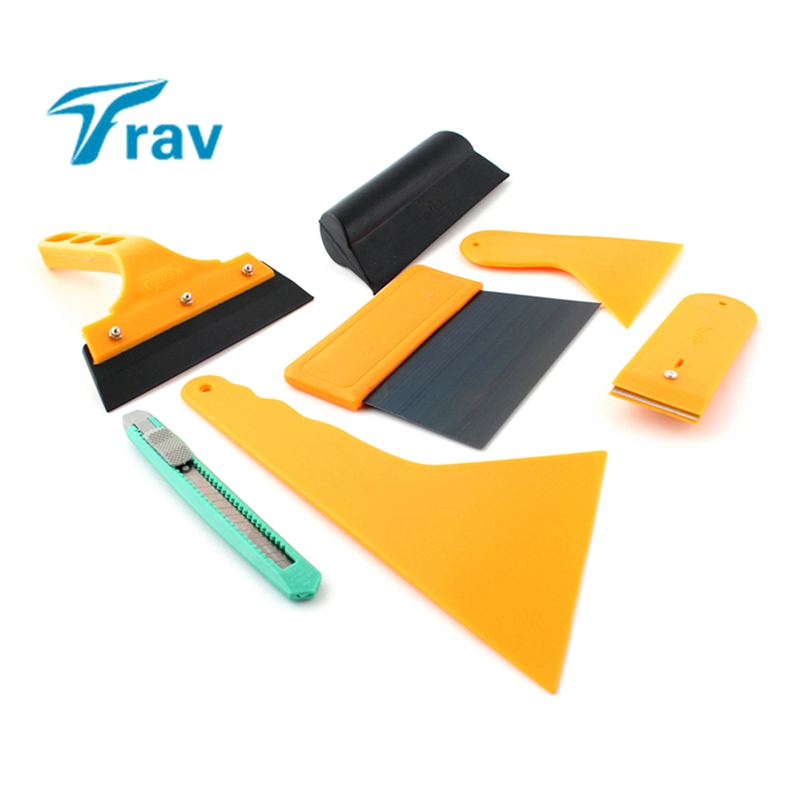 7pcs Car Window Tint Tools Kit Set Fitting For Film Tinting Scraper Application W/retail Package
