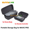 Mavic Pro Portable Remote Controller (Transmitter)/ Drone Body Bag Hardshell Housing Bag Storage Box Case for DJI MAVIC PRO