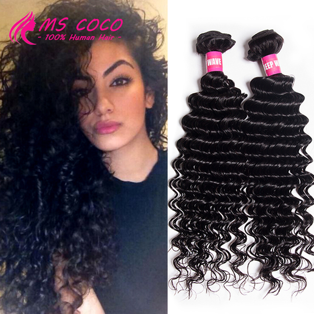 Bele Virgin Hair Malaysian Deep Wave 5bundles 7a Curly Weaving Queen