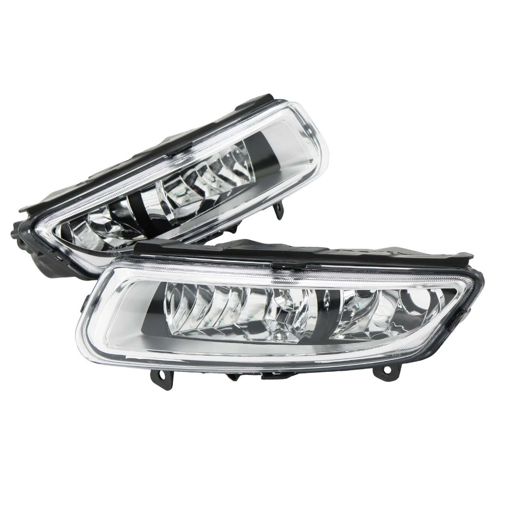 2Pcs For VW Polo Vento Derby 2009 2010 2011 2012 2013 2014 Car-Styling Front Fog Lamp Fog Light car modification lamp fog lamps safety light h11 12v 55w suitable for mitsubishi triton l200 2009 2010 2011 2012 on