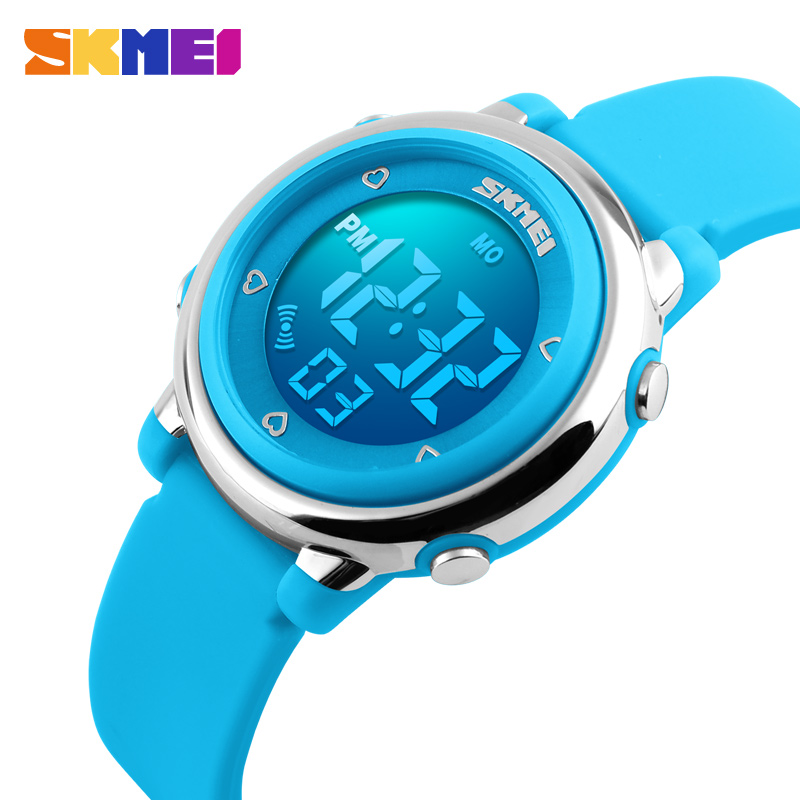SKMEI Barn LED Digital Watch Relogio Feminino Sports Klokker Kids Cartoon Jelly Relojes Mujer 2017 Vanntette Armbåndsur