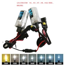 H1 H3 H7 H11 9005 9006 880 35 Вт 55 Вт HID Xenon лампа 12 В авто лампы фар 3000 К 4300 К 5000 К 6000 К 8000 К 10000 К