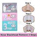 Pig Nose Clear Blackhead Remover Nose Mask 3-Step Kit Deep Clean Nose Blackheads Removal minimize pores