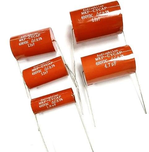 Audiophiler Axial MKP 1UF 2.2UF 3.3UF 3.9UF 4.7UF 5.6UF 6.8UF 7.5UF 8UF 10UF 400V(China)