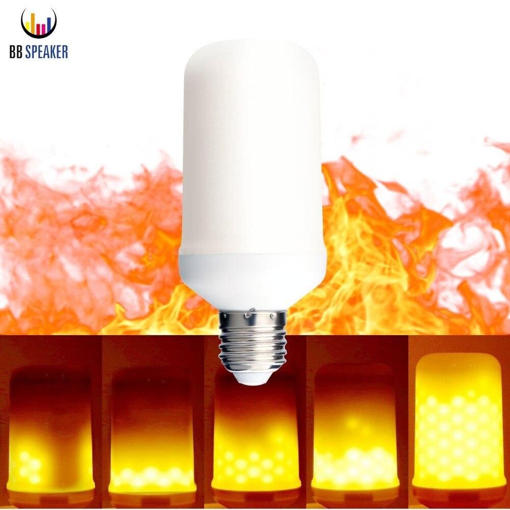 E27 Flame Fire Lights E14 LED Flame Effect Bulb E26 110V 220V flickering decorative lights Christmas lights fire flame lamps световое оборудование flame lights led ktv