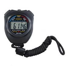 Таймера ремешком хронограф секундомер цифровая счетчик запуск спортивный новая с