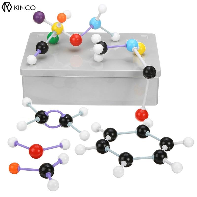 Kicute 267Pcs/Set Molecular Model Set Kit Link General Organic Chemistry Scientific Models Structure For Teaching laboratory xhjy xmm 006 chemistry organic molecule model for teaching multicolored