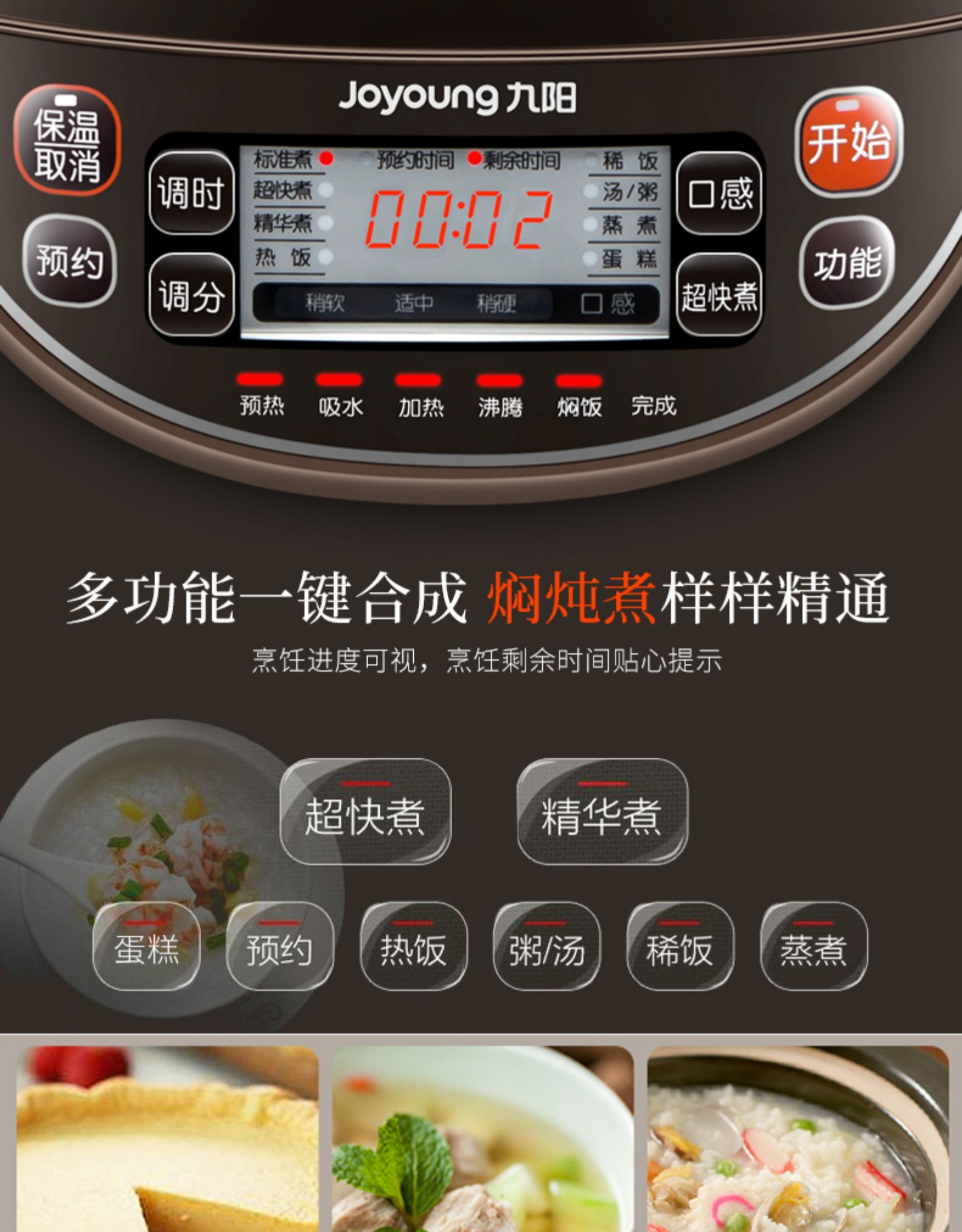 Rice Cooker Pot 5L Liter Household Large Capacity 2 Intelligent 3 Multi-function Automatic 4 People 5-6-8 People 7