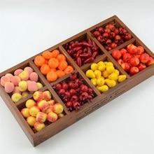 60 шт., искусственные мини-фрукты и овощи из пенопласта