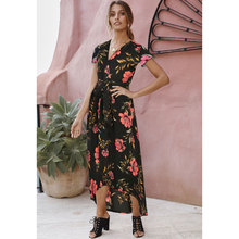 sexy dresses party night club dress 2019 womens elegant clothing vintage straight print v-neck girls clothes plus size