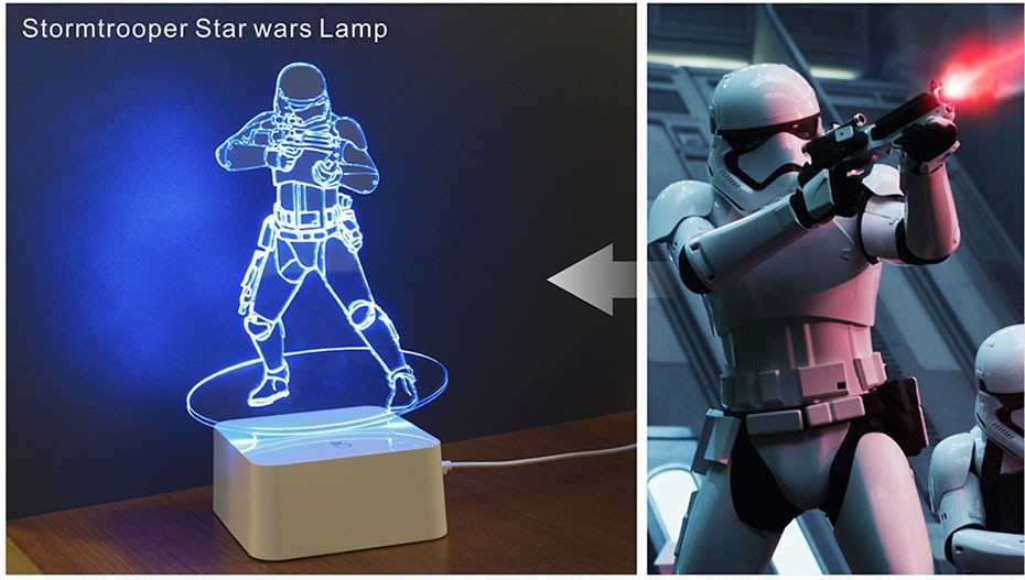 Star was Series Led 3D Night Light 5 light colors available  (8)