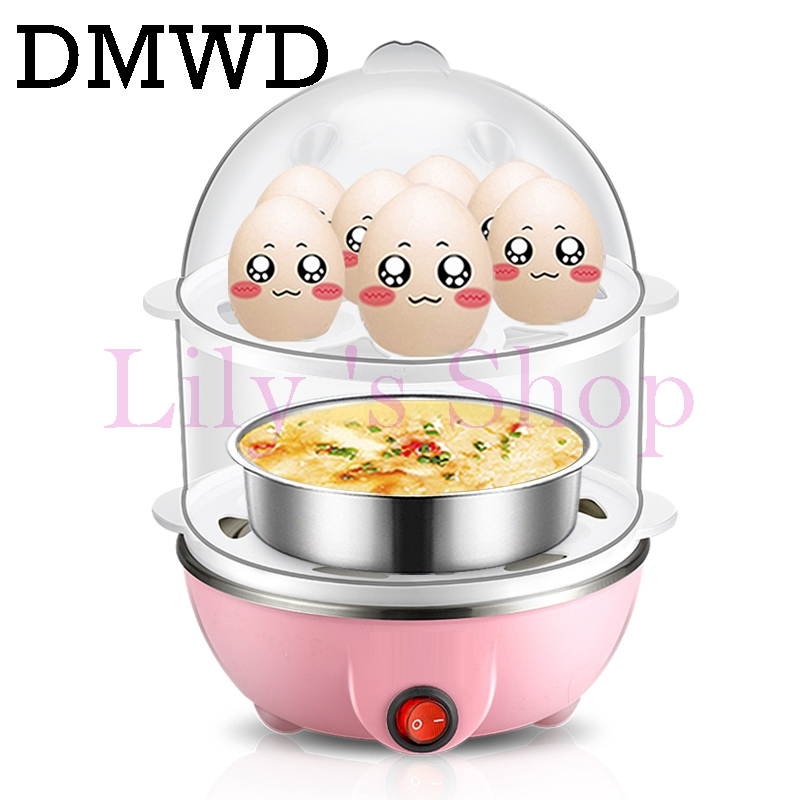 Multifunction electric Egg Cooker household Poach boil egg Boiler Steamer 2 layers Automatic Safe Power-off Cooking device EU US cukyi double layer multi function electric egg cooker boiler stainless steel automatic power off mini