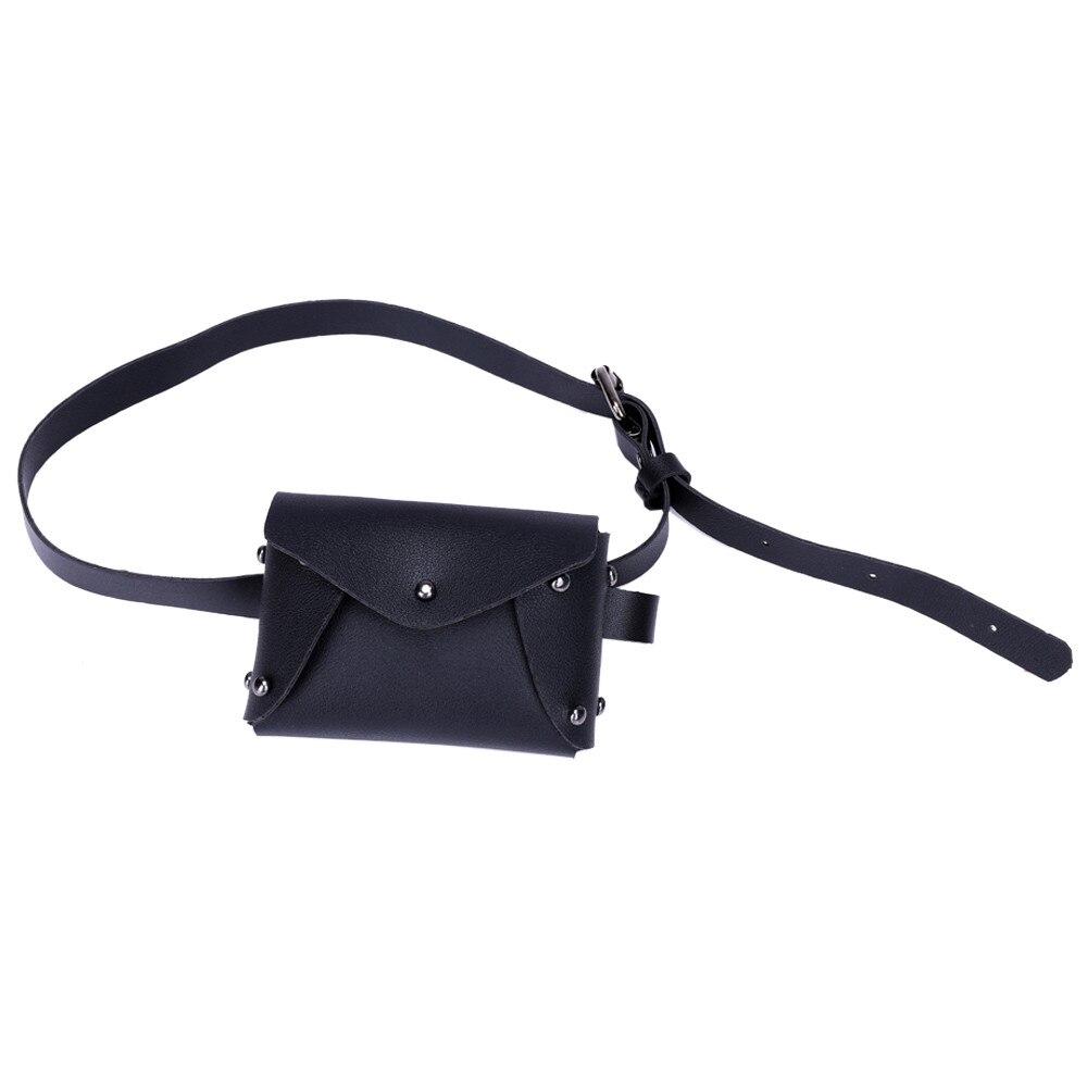 2019 Neue Fanny Pack Für Frauen Mode Mini Reine Farbe Leder Messenger Tasche Mädchen Vielseitige Schulter Taschen Karte Münze Brust Tasche