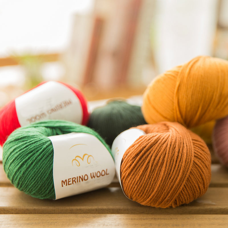 100 merino wool yarn hand knitting baby Kids soft thick yarn for knitting threads hand knit scarves socks cashmere yarn worsted in Yarn from Home Garden
