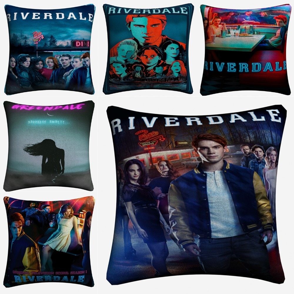 Riverdale Original TV Series Show Decorative Linen Cushion Cover For Sofa Chair 45x45cm Throw Pillow Case Home Decor Almofada
