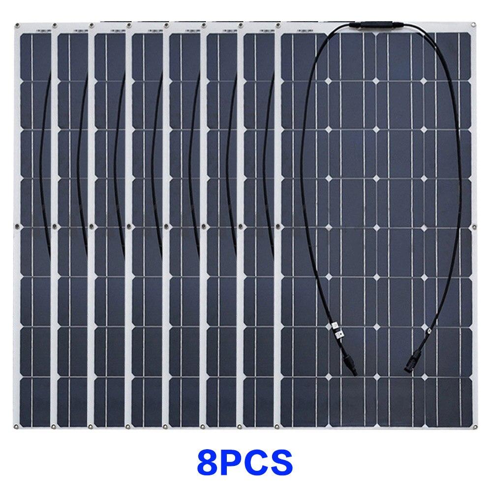 8pcs solar panel