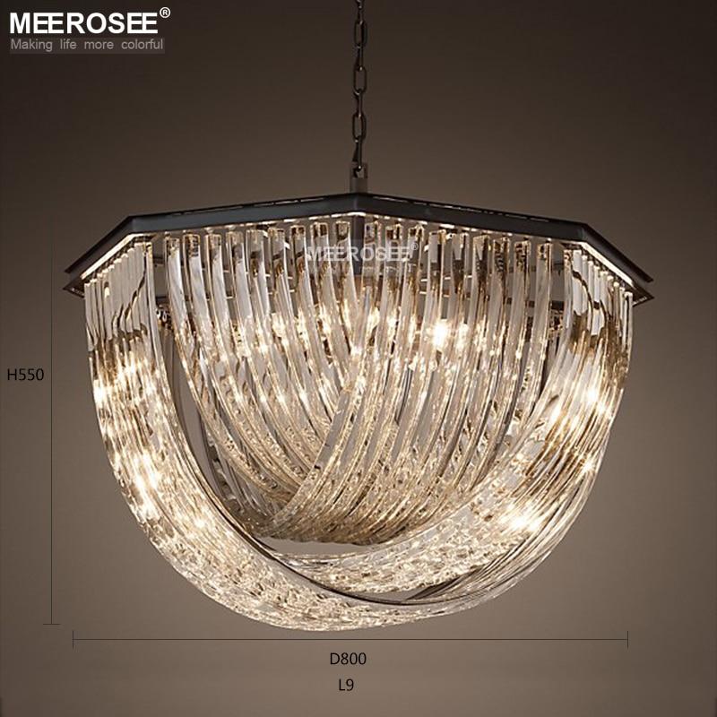 Dispositivo Elétrico de Iluminação da Lâmpada de Cristal de Suspensão do Candelabro do vintage para o Restaurante Foyer Quarto lamparas de techo colgante moderna