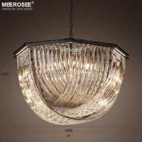 Vintage Chandelier Lighting Fixture Crystal Hanging Lamp for Restaurant Foyer Bedroom lamparas de techo colgante moderna
