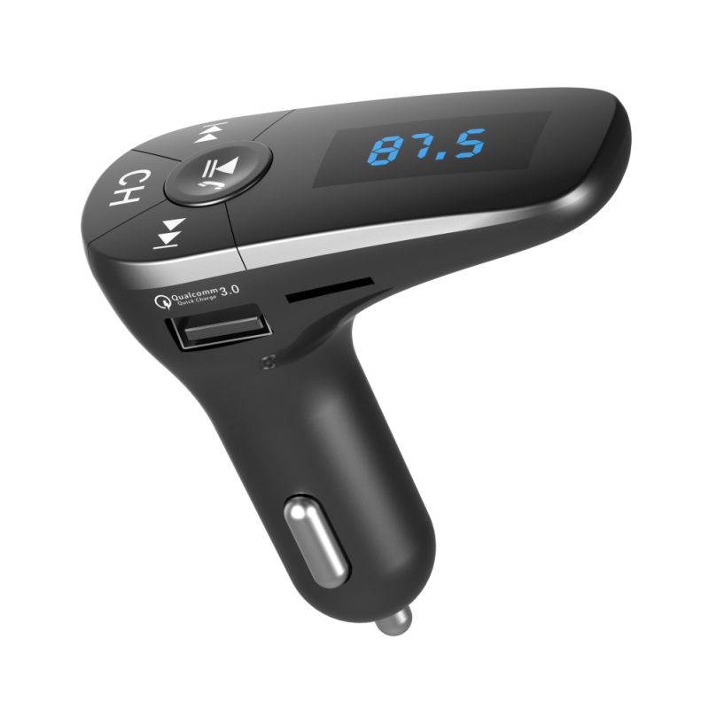 Car MP3 Player Bluetooth FM Transmitter Hands-free Car Kit Radio Modulator Dual USB Car  ...