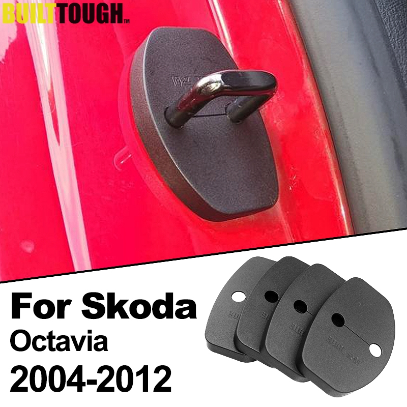 Xukey 4Pcs Door Catch Lock Cover Striker Buckle Case Protection Antirust Fit For Skoda Octavia A5 2004-2012 For VW Passat B5