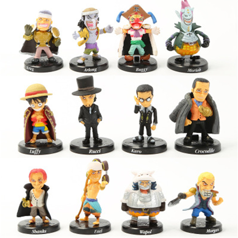 Constructive 12 Pcs/set One Piece Monkey D Toys & Hobbies Luffy Rucci Karo Sbanks Enel Krieg Arlong Buggy Wapol Pvc Action Figure Collectible Model Toy