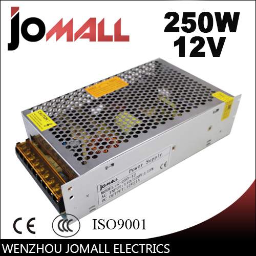 Free Shipping  250W 12V 20A  switching power supply Driver for LED Strip AC 100-240V Input to DC 12V switching power supply meanwell 12v 350w ul certificated nes series switching power supply 85 264v ac to 12v dc