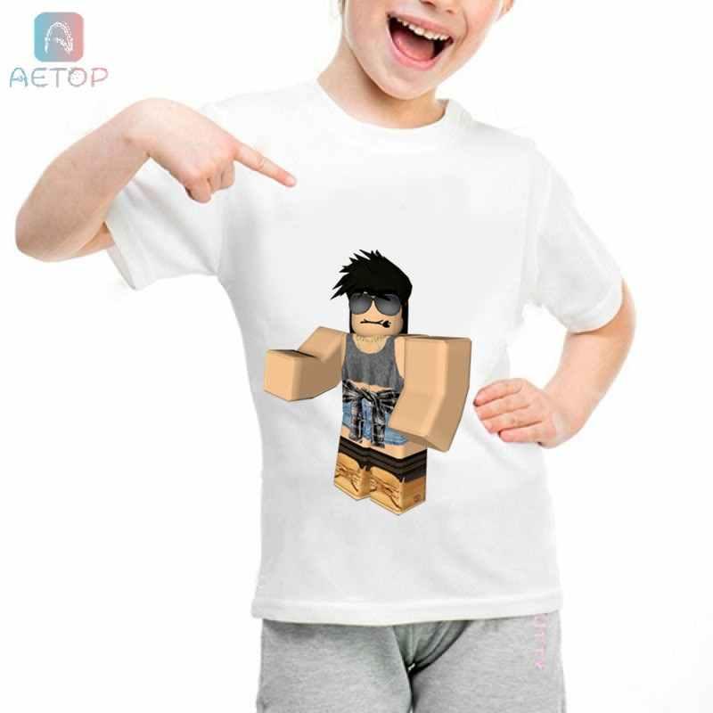 5936d55fa ... HOT Cartoon Roblox lww17 Kingdom Funny T-shirt Kids Baby Summer Cute  Clothes Boys Girls ...