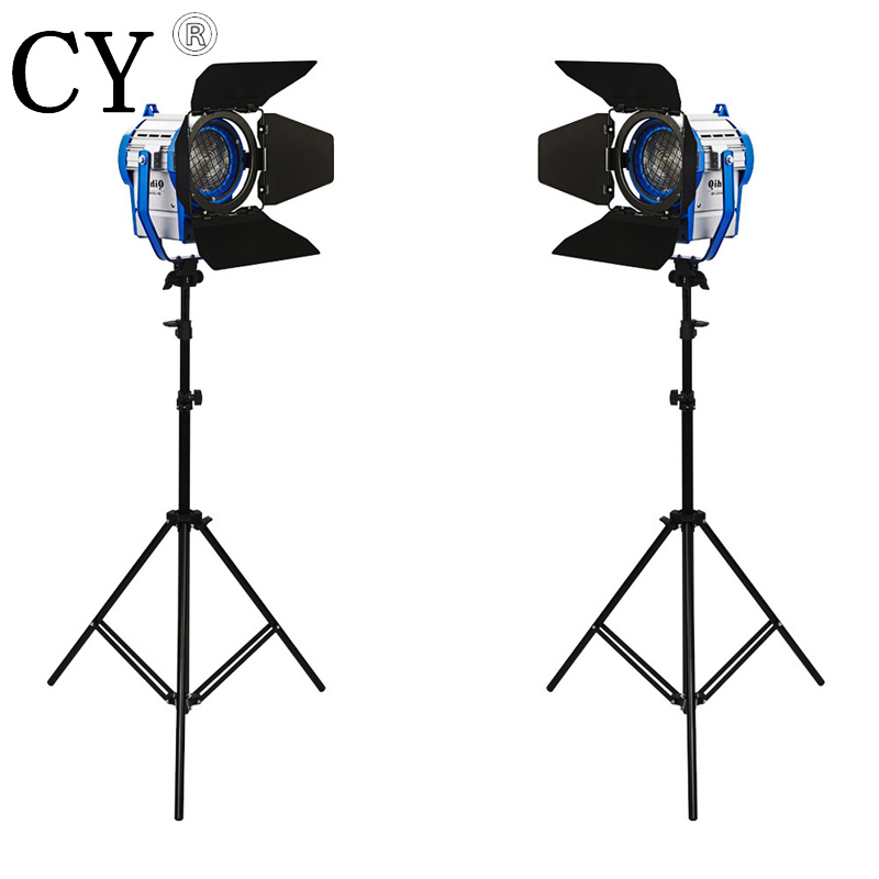 Studio Fresnel Tungsten Continuous Lighting Kit with Light Stand as ARRI 2000W studio lighting kits PSK10A2