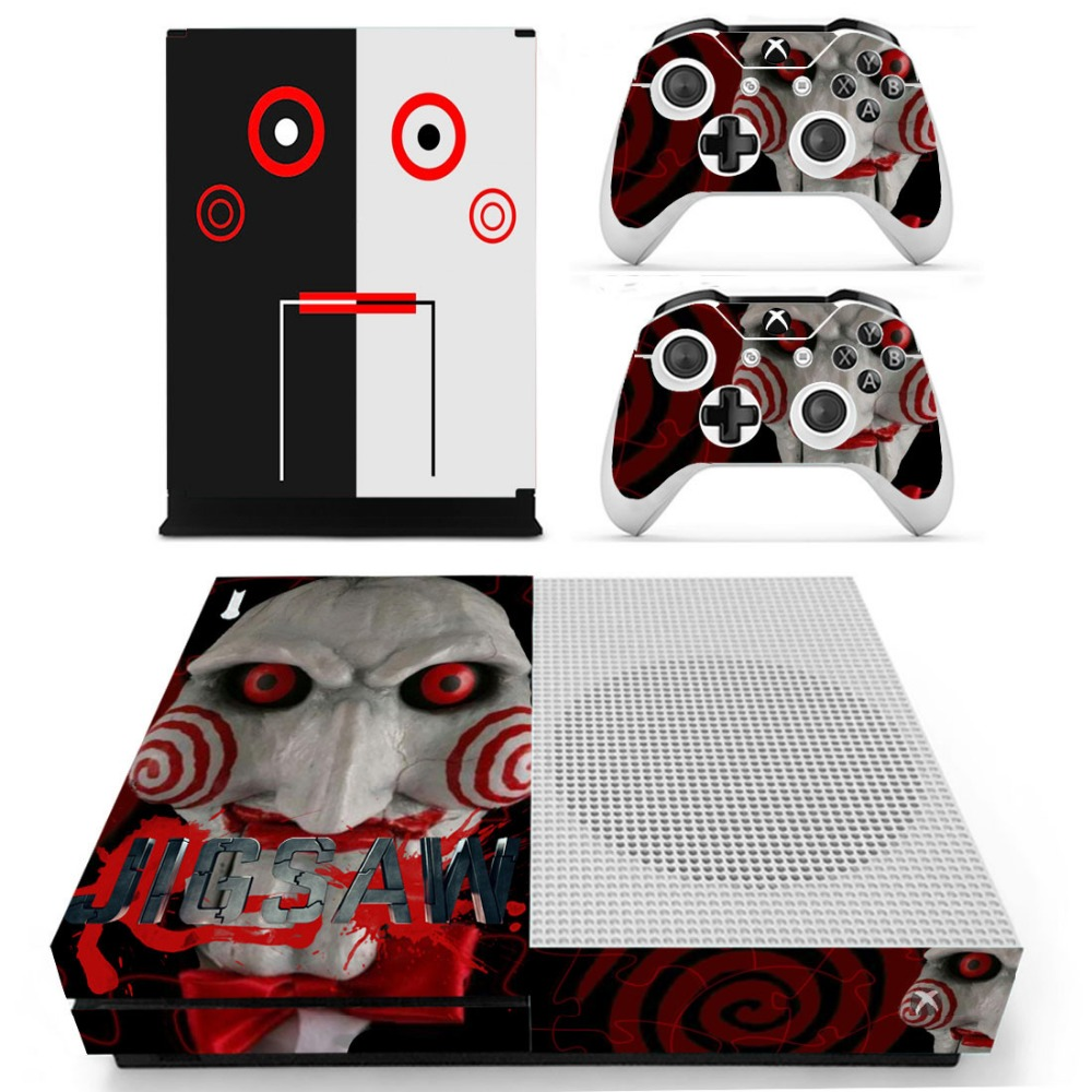 Skin Sticker Carbon Fiber Console And Controller Decal For Microsoft Xbox One S Bright In Colour Video Game Accessories