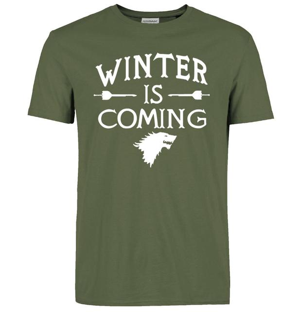 Game Of Thrones Winter is Coming Cotton Casual Short Sleeves Men's T-shirt