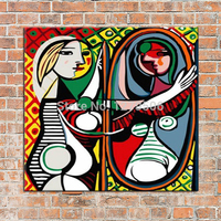 Product Name Modern Art Hand Painted Wall Art Oil Paintings Abstract Mirror On Canvas Wall Pictures