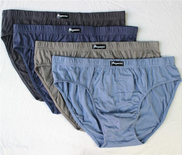 M,L,XL,2XL,3XL,4XL,5XL,6XL Solid Briefs Mens Cotton Underwear Male Panties Comfortable Breathable Underwear 4pcs/lot