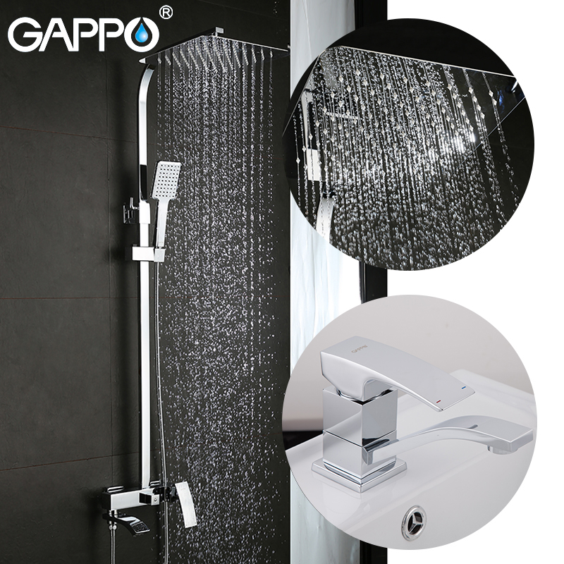 GAPPO Sanitary Ware Suite shower faucet set bathtub faucet mixer tap waterfall wall shower head shower