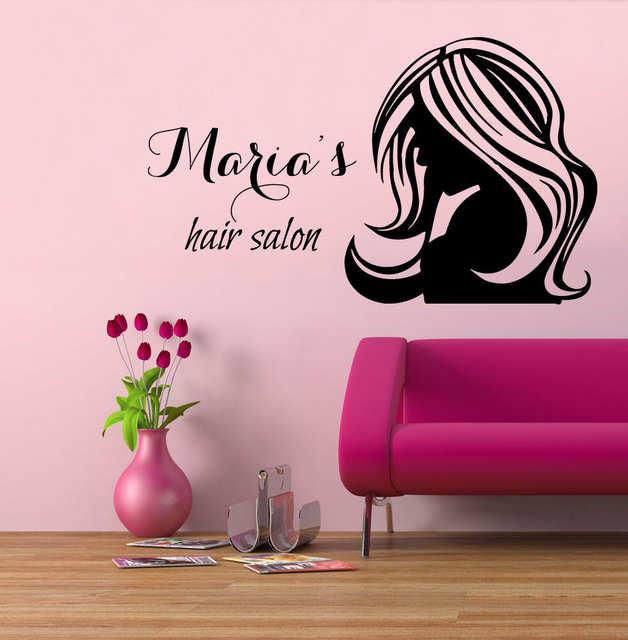 online shop wall decal vinyl sticker custom logo barber shop hair