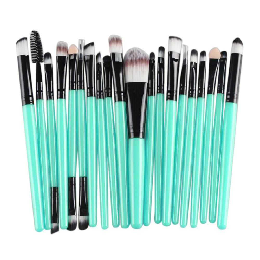 20 pcs Rose Gold Makeup Brushes sets Professional Eyeshadow Cosmetics Face Blusher Powder Foundation Concealer Make up Brushes