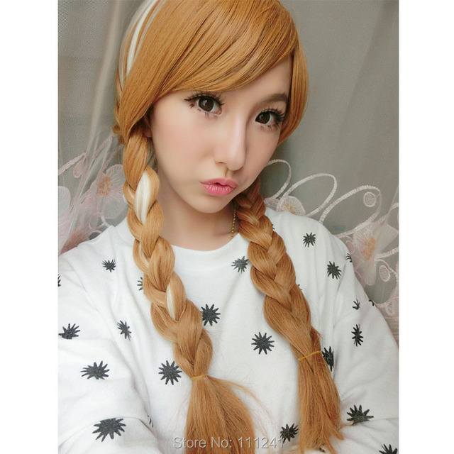 Kirigakure.Ao no Exorcist,967.Anna Mix Blonde Braid Long Synthetic Hair Cosplay Party Wig